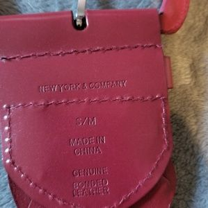 New York & Company Accessories - New York & Company Braided red leather belt
